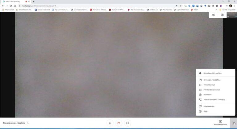 Google Meet videokonferencia a böngészőben: csatlakoztatva